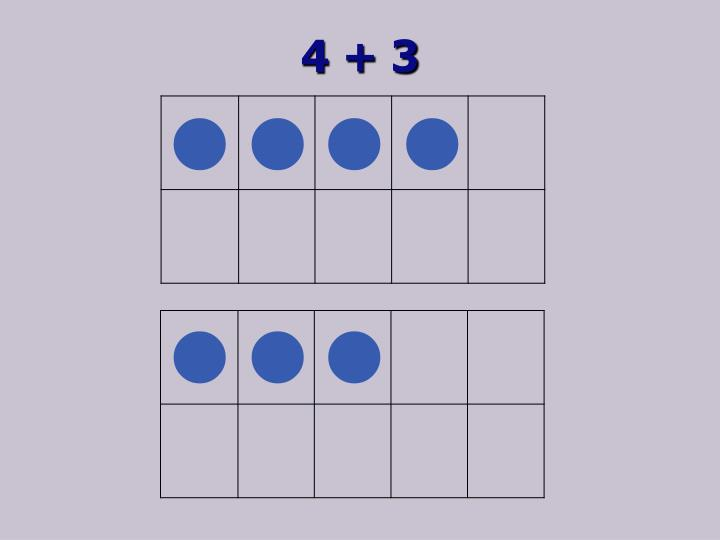 4 + 3