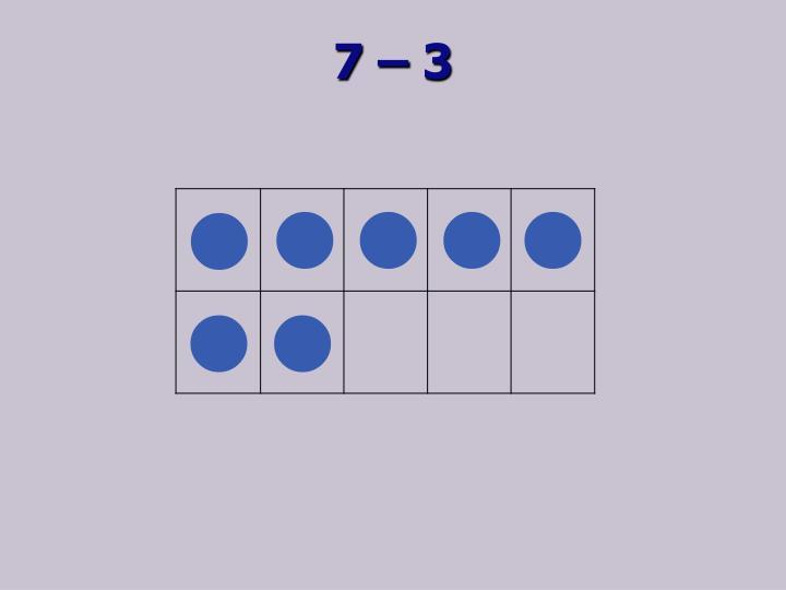 7 – 3