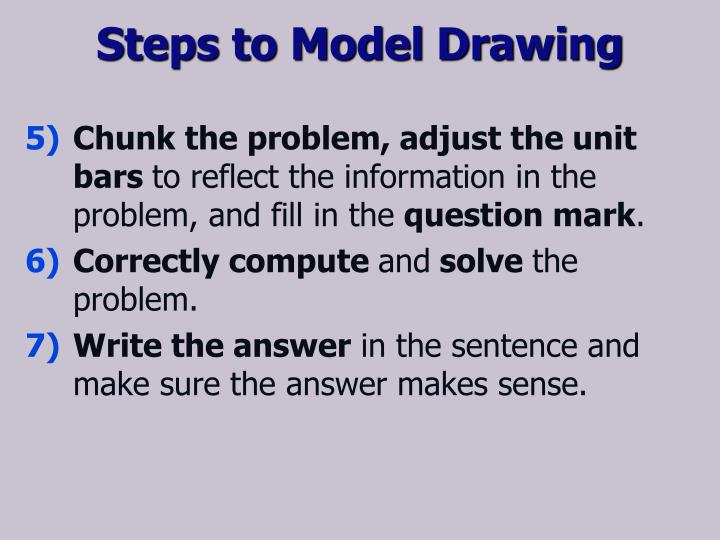 Steps to Model Drawing