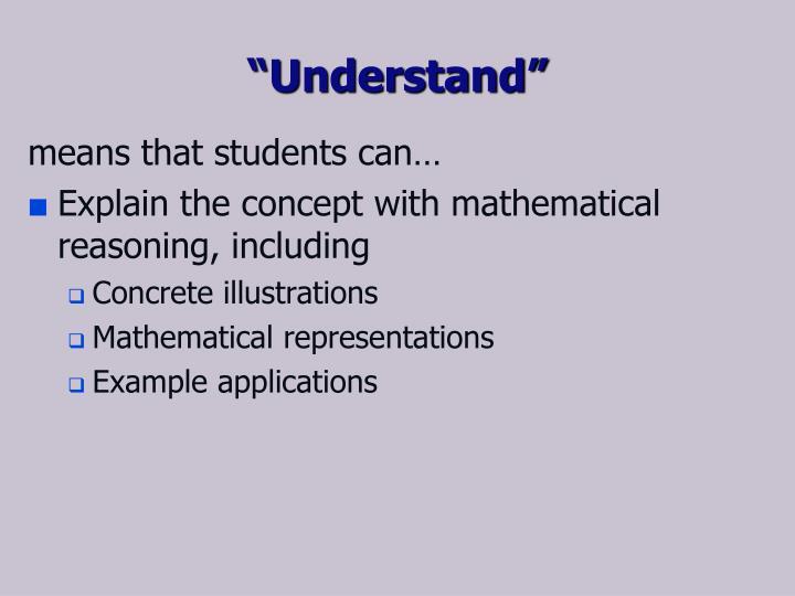 """""""Understand"""""""
