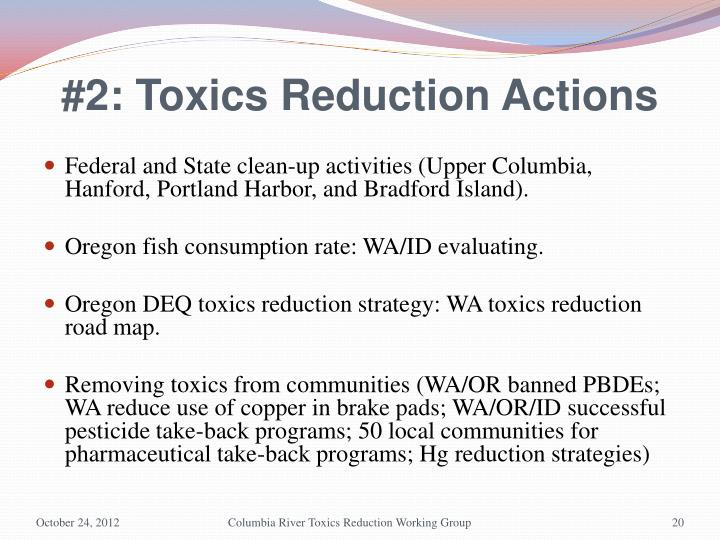 #2: Toxics Reduction Actions