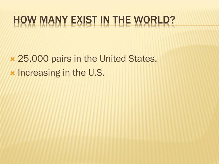 How many exist in the world