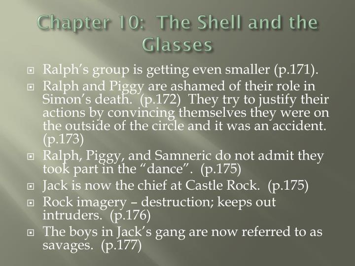 Chapter 10:  The Shell and the Glasses