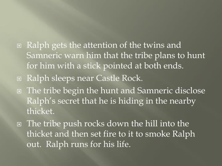 Ralph gets the attention of the twins and