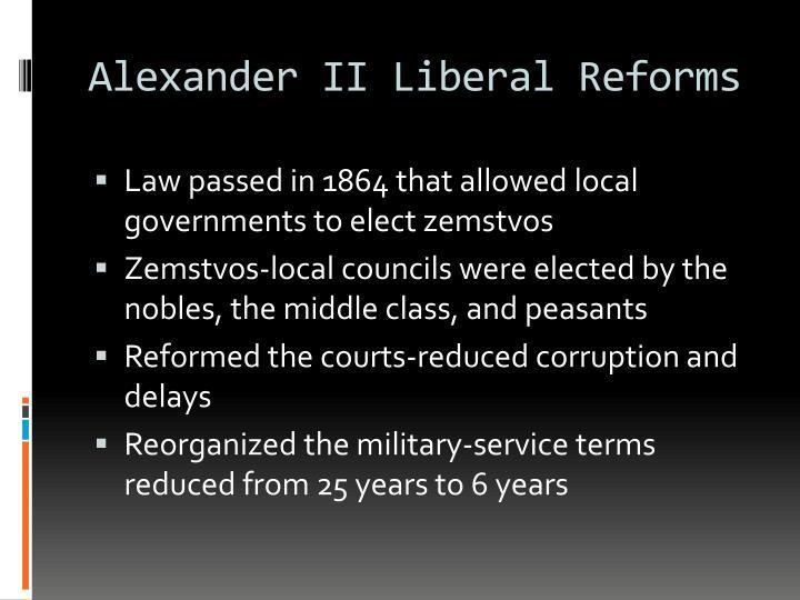 Alexander II Liberal Reforms