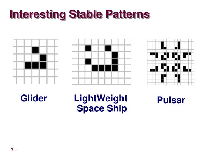 Interesting Stable Patterns