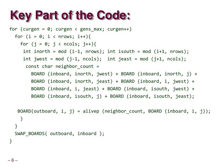 Key Part of the Code: