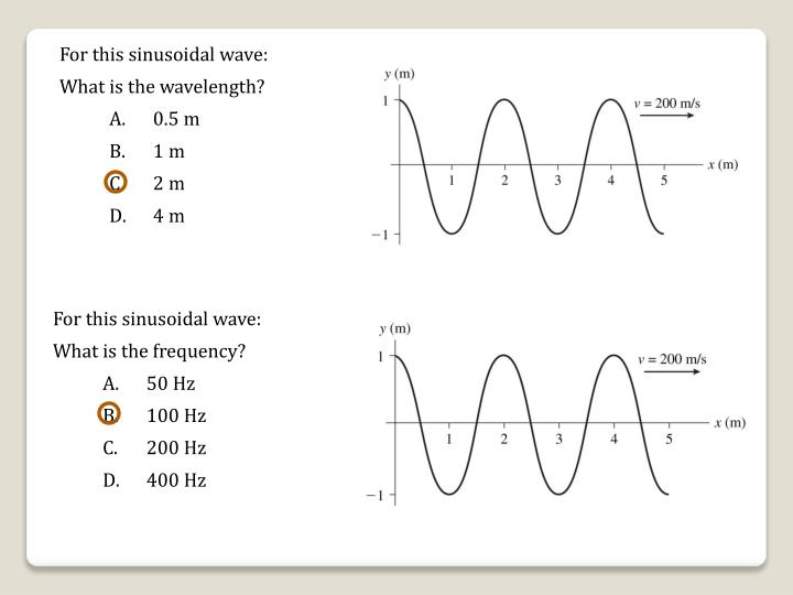 For this sinusoidal