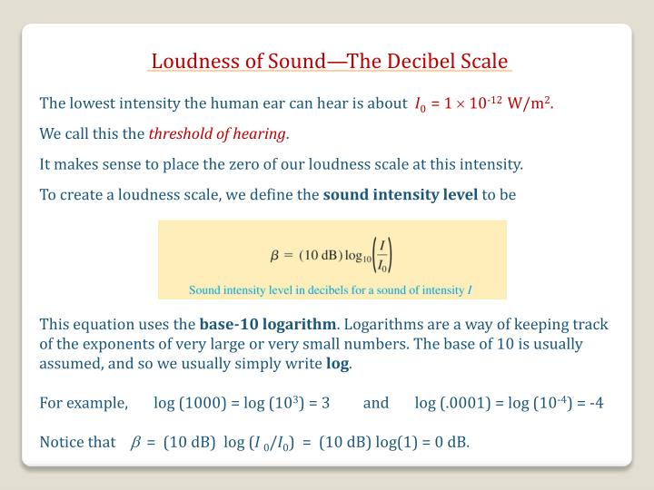 Loudness of Sound—The Decibel Scale