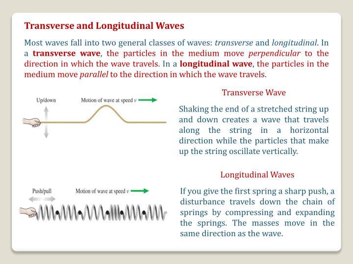 Transverse and Longitudinal