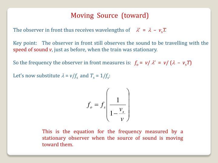 Moving  Source  (toward)