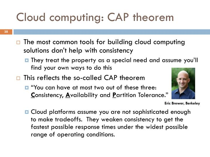 Cloud computing: CAP theorem