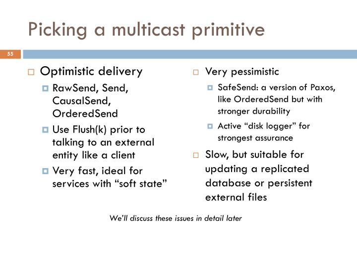 Picking a multicast primitive