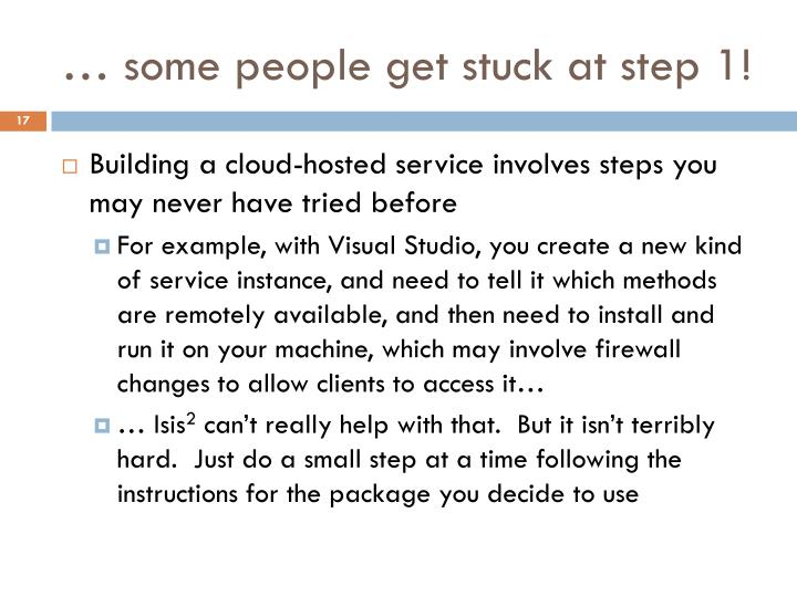 … some people get stuck at step 1!