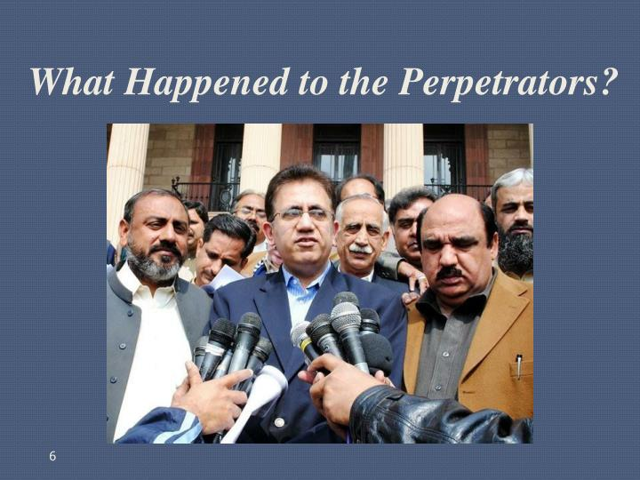 What Happened to the Perpetrators?