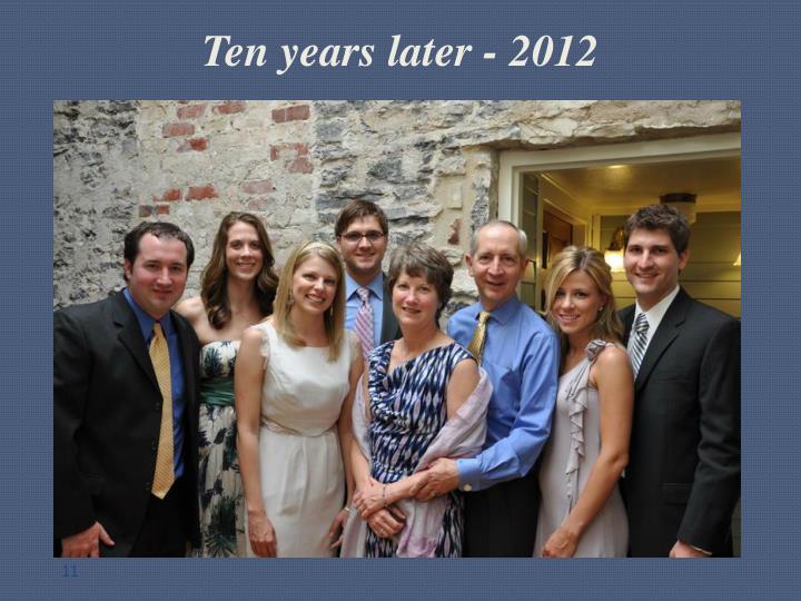Ten years later - 2012