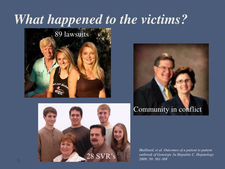 What happened to the victims?