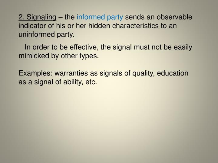2. Signaling