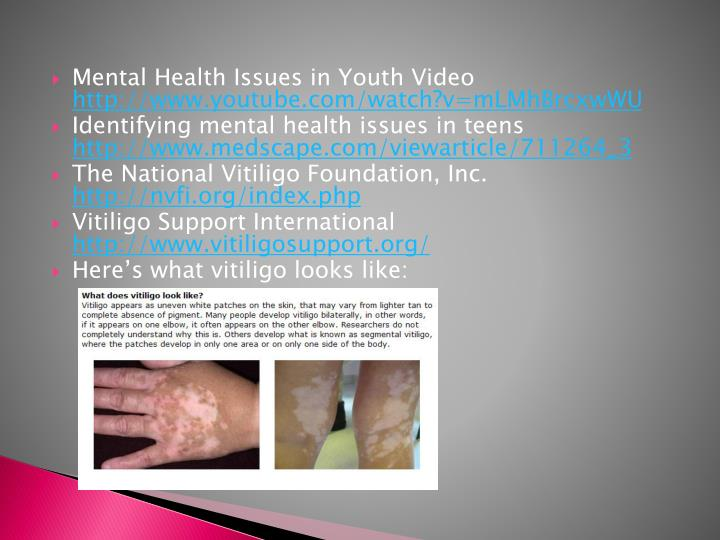 Mental Health Issues in Youth Video