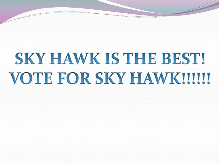 SKY HAWK IS THE BEST!