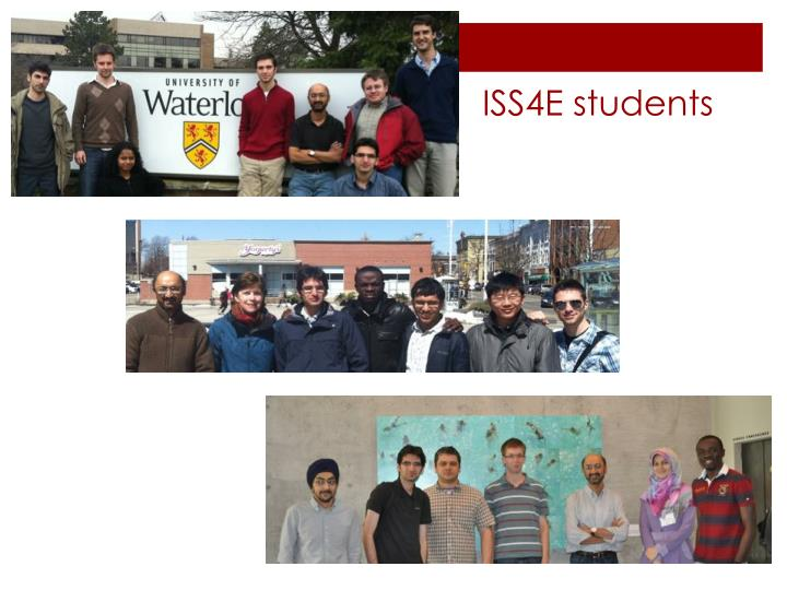ISS4E students