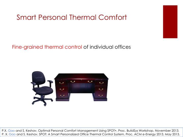 Smart Personal Thermal Comfort