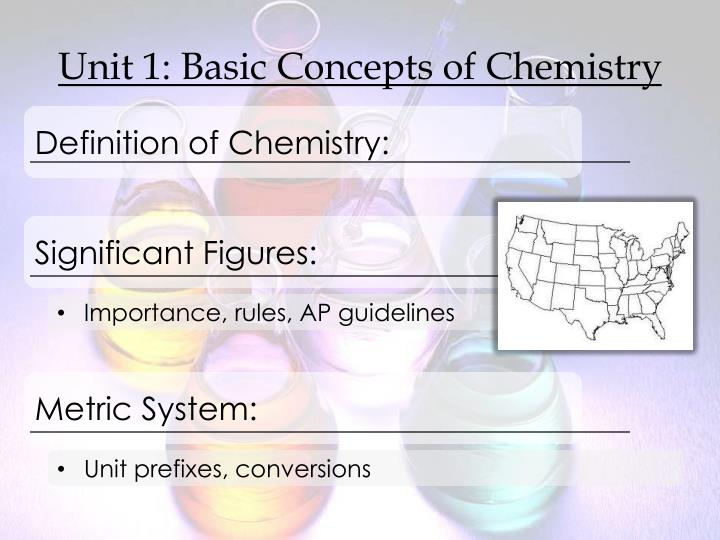 Unit 1 basic concepts of chemistry