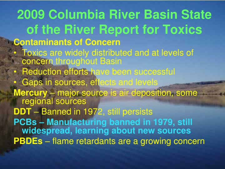 2009 Columbia River Basin State of the River Report for Toxics