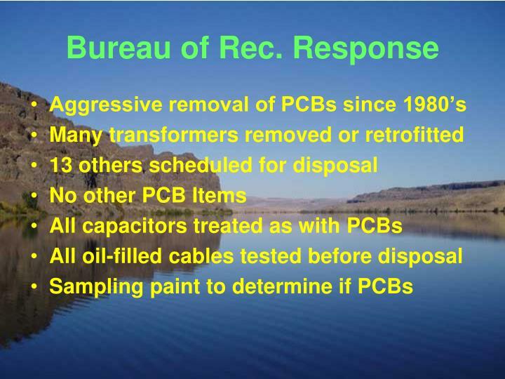 Bureau of Rec. Response
