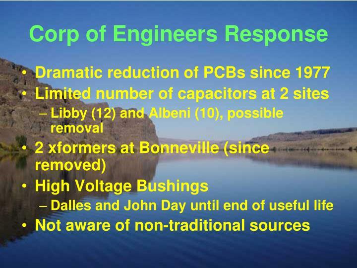 Corp of Engineers Response
