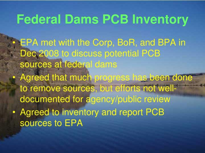 Federal Dams PCB Inventory