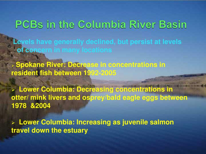 PCBs in the Columbia River Basin