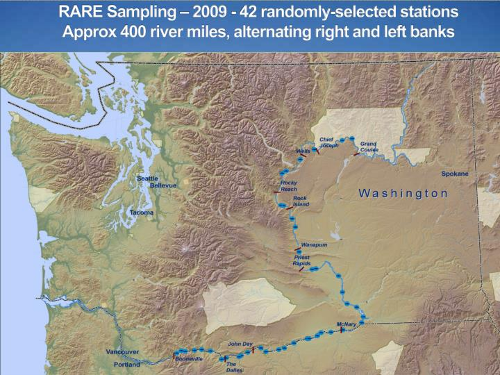 RARE Sampling – 2009 - 42 randomly-selected stations
