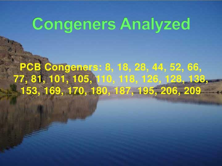 Congeners Analyzed