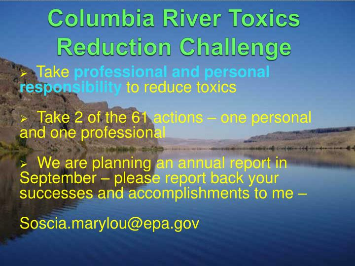 Columbia River Toxics Reduction Challenge