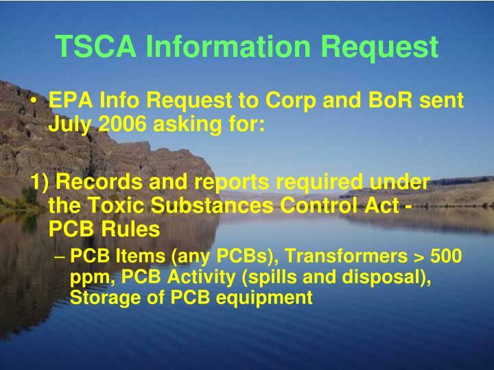 TSCA Information Request