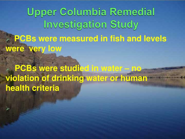 Upper Columbia Remedial Investigation Study