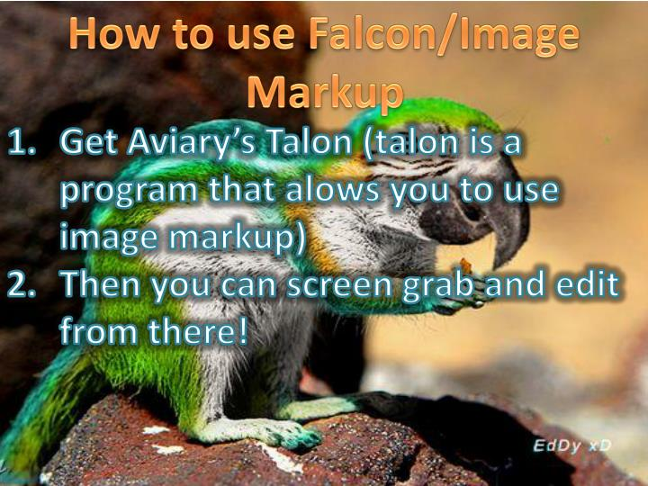 How to use Falcon/Image Markup