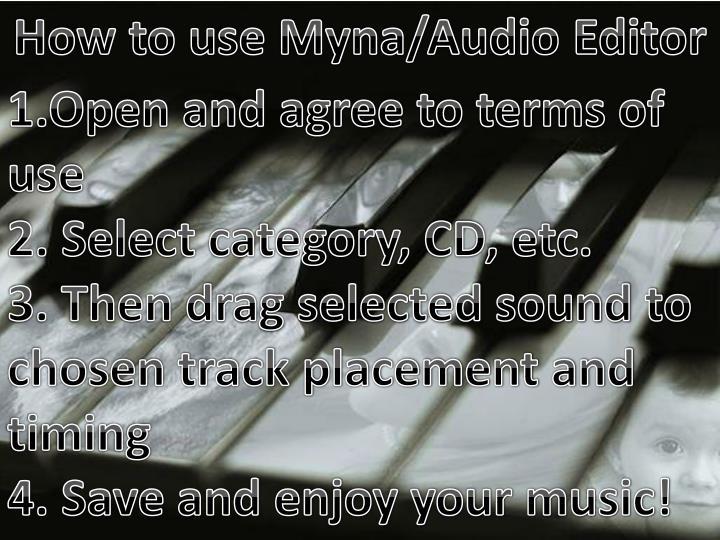 How to use Myna/Audio Editor