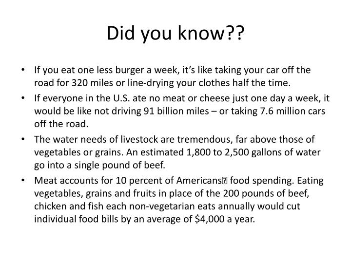 Did you know??