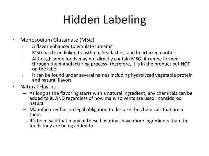Hidden Labeling