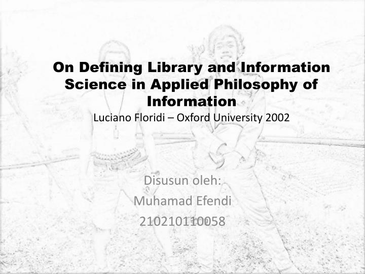 On Defining Library and Information Science in Applied Philosophy of Information