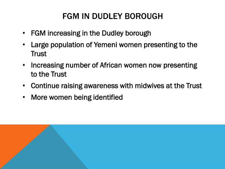 FGM in Dudley borough