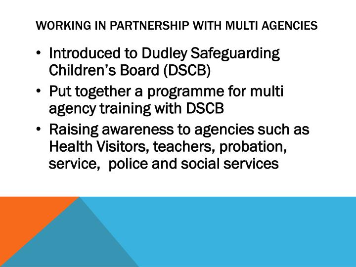 Working in Partnership with Multi agencies