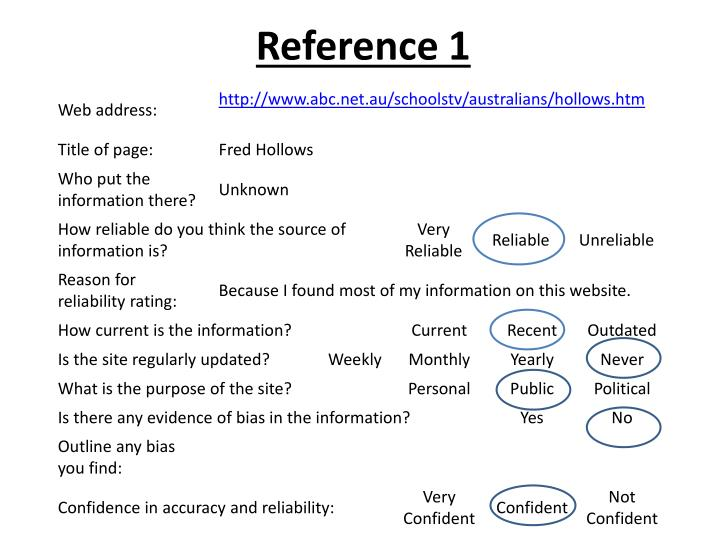 Reference 1