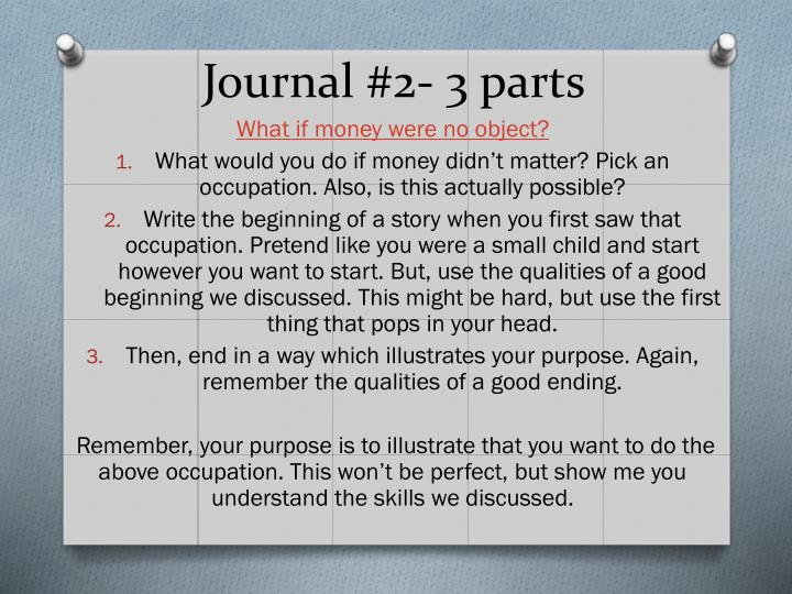 Journal 2 3 parts