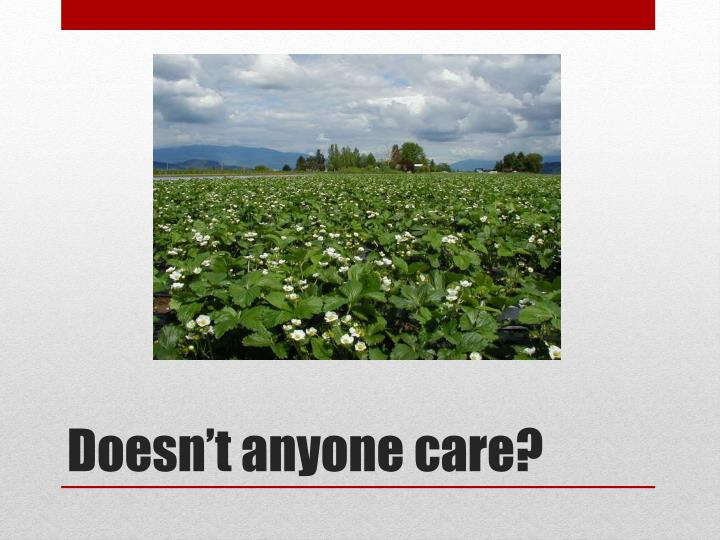 Doesn't anyone care?