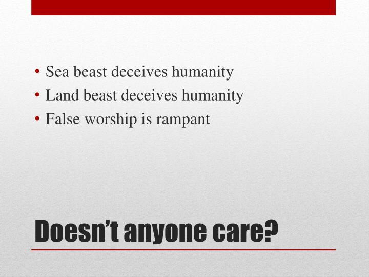 Sea beast deceives humanity