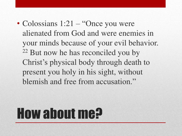 """Colossians 1:21 – """"Once"""