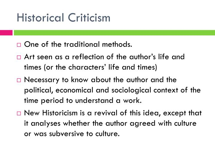 Historical criticism